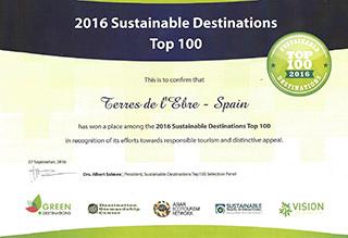 Las Tierras del Ebro entre los 100 mejores destinos de turismo sostenible
